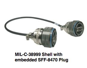 MIL-C-38999 Shell embedded SFF-8470 Plug