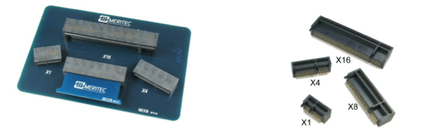 Right Angle PCI Express Through-Hole Mount Connectors